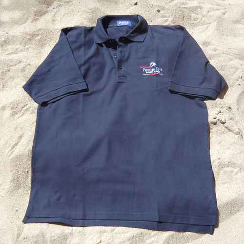 Dark Blue Paradise Cove Golf Shirt