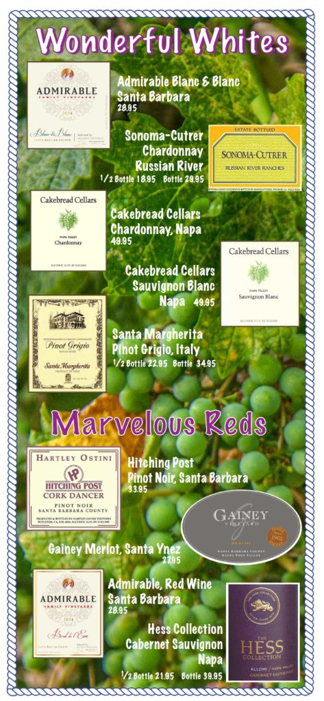Paradise Cafe Malibu Menu