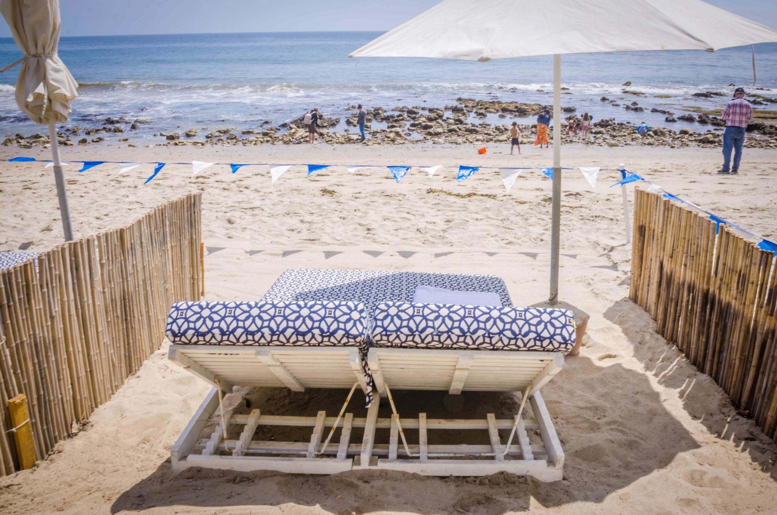 Beach double bed near the beach